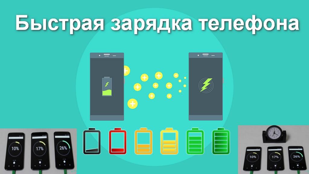 Быстрая зарядка телефона